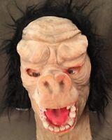 Very Rare HTF Vintage Topstone Velvet Monkey Ape Gorilla Hairy Halloween Mask