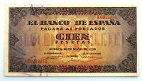 Spain Guerra Civil-Billete. 100 Peseta 1938. Burgos. SC/UNC. Escaso.