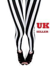 Black White Stripes in 3 Patterns Leggings