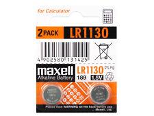 2 x Maxell Pila Batteria replace GP189 GP389 GP390 GP89A KA54 LR1130H L1131
