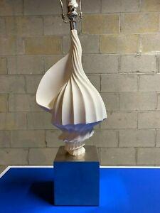 Jonathan Adler Lamp - White Designer Shell New! No Shade