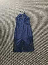 Bardot Gorgeous Navy Blue Lace Dress Size 8 RRP$179