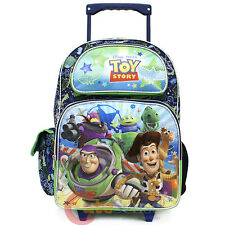 "Disney Toy Story Large School Roller Backpack  16""  Tolley Wheeled Bag  Infinity"