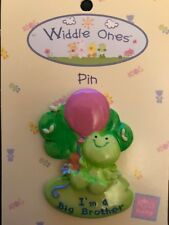 "Ceramic Widdle Ones Pin Badge ""I'm a Big Brother"" -  New Brother, gift, keepsake"