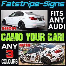 AUDI Camo A1 A2 A3 A4 A5 A6 TT grafica Adesivi Decalcomanie Camouflage in vinile a strisce