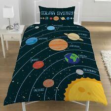 Astro chat gris noir housse de couette STARS Espace King Couette Ensemble De Literie Taie d/'oreiller