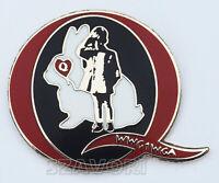 """QAnon White Rabbit & JFK Jr. WWG1WGA Hard Enamel Lapel Pin (1"""" wide)"""