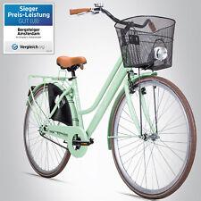 28 Zoll Damenfahrrad Bergsteiger Amsterdam Citybike Korb u. Licht Retro Damenrad