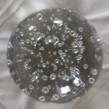 """Glass Paperweight - 3 1/2"""" - Clear, controlled bubbles"""