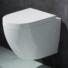 WC TOILETTE WC SUSPENDU ABATTANT SILENCIEUX LUNETTE DE WC 376 PROMO