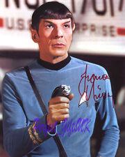 Leonard Nimoy Mr Spock Star Trek Signed 10x8 Repro Photo Print