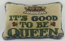 """Mary Engelbreit Me It's Good To Be Queen Tapestry Accent / Throw Pillow 12"""" x 7"""""""