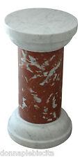 Colonna Marmo Rosso Francia e Bianco Carrara Tavolo Classic Design Marble Table