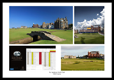 More details for st. andrews golf club old course photo memorabilia poster home of golf fife