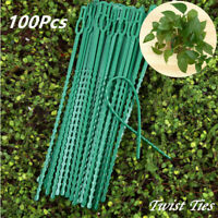100 Garden Adjustable Tie Wire Flexible Plastic Plant Twist Ties for Strong Vine