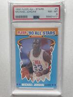 1990 Fleer Michael Jordan All Star #5 - PSA 8 - Looks Mint! New Case! Bulls