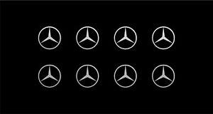 Mercedes Logo Vinyl Decals Phone Dashboard Mirror Laptop Small Stickers