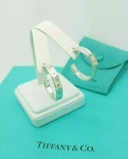 Tiffany & Co. GRANDE Argento Sterling 1837 ORECCHINI CERCHI spessa RARA