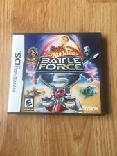 Hot Wheels Battle Force 5 Nintendo DS NDS Cib Game XP2