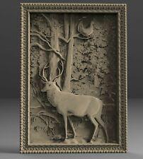3D STL Model # THE DEER IN THE FOREST # for CNC Aspire Artcam 3D Printer 3D MAX