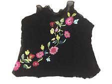 Belinda Ch'ng London Womens Top Ladies Silk Item UK 10 Casual Flower Design @