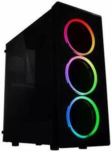 Intel i7 3.8GHZ Light Gaming PC  16GB  1TB Desktop Computer  RGB