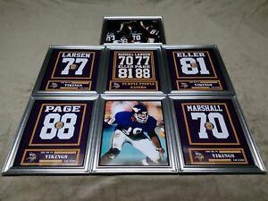 Minnesota Vikings Purple People Eaters Framed 8x10 Jersey Photo