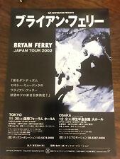 BRYAN FERRY Japan 2002 flyer live gig CONCERT mini-poster Roxy Music MINT rare!