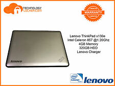 Lenovo ThinkPad x130e Laptop Intel Celeron 857 @1.20Ghz 4GB MEM 320GB HDD Silver
