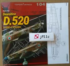 *Dewoitine D.520 - Topdrawings Kagero *N*E*W* RECOMMEND!!