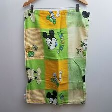 Mickey Mouse Pillowcase Pillow Cover Yellow Green Stripes Cotton Cotton