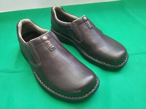 Merrell Ortholite Comfort Brown Leather Loafer Air Cushion Shoes Men's SZ 8/41.5