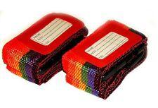 2 nuevas Correas del equipaje Ajustable viajes Correas De Seguridad Set
