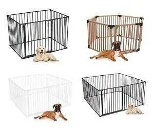 Bettacare Premium Puppy Pen Indoor Deluxe Dog Pet Pens White Black and Wooden