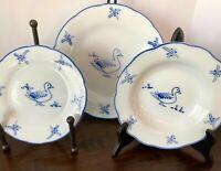 10-Pc Set of Cordon Bleu Porcelaine Dinner & Salad Plates + 2 Bowls ~ DUCK motif