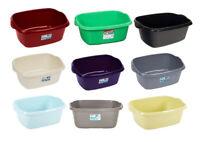 Wham Large Rectangular Plastic Washing Up Bowl Kitchen Basin 12 Litre