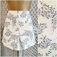 MISS SELFRIDGES UK 10 BNWT Retro Cream Floral Cherry Blossom Shorts Summer