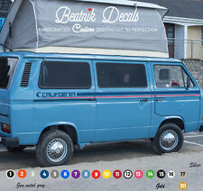 VW Volkswagen T25 / T3 Side Stripe Sticker Decal 2 Colour Graphic Camper Van