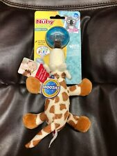 Nuby Natural Flex Cherry Pacifier with Snoozie Combo Set Giraffe  0-6 Months