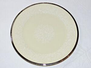 "Lenox Moonspun China Salad Plate USA Made 8 1/8"" Cream White Floral Patern #"
