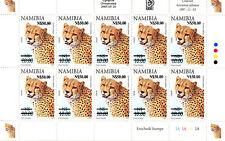 NAMIBIA 1997 DEFINITIVES OVERPRINTED 2005 SG1006 SHEETLET OF 10 MNH