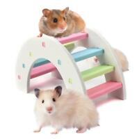 Hamster Colorful Ladder Toys Cute Small Animal Pets Climbing Wood Rainbow Bridge