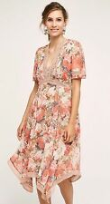 ANTHROPOLOGIE BY RANNA GILL ROSE BOUQUET DRESS SIZE 4
