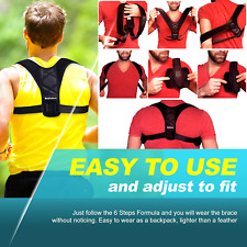 Posture Corrector Trainer Women Men Back Support Brace Shoulder Neck Pain Relief