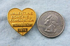 CURLING LAPEL PIN VALENTINE BONSPIEL CONSOLATION 4TH EVENT 1975