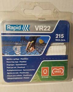 Drahtgitterklammern  VR22   >Farbe WEISS    215 Stück    Rapid