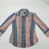 Talbots Women's Long Sleeve Button Front Shirt Size 2