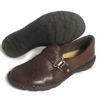 Earth Spirit Women's Genuine Leather Walking Shoes Slip On Gelron Comfort Size 8