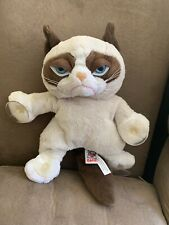 Extra Large 22 inch Grumpy Cat Plush Gund Huge Blue Eyes Feline