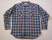 "Vintage 1950's ""101"" Cotton Plaid Western Shirt Nos Unworn sz Xl"